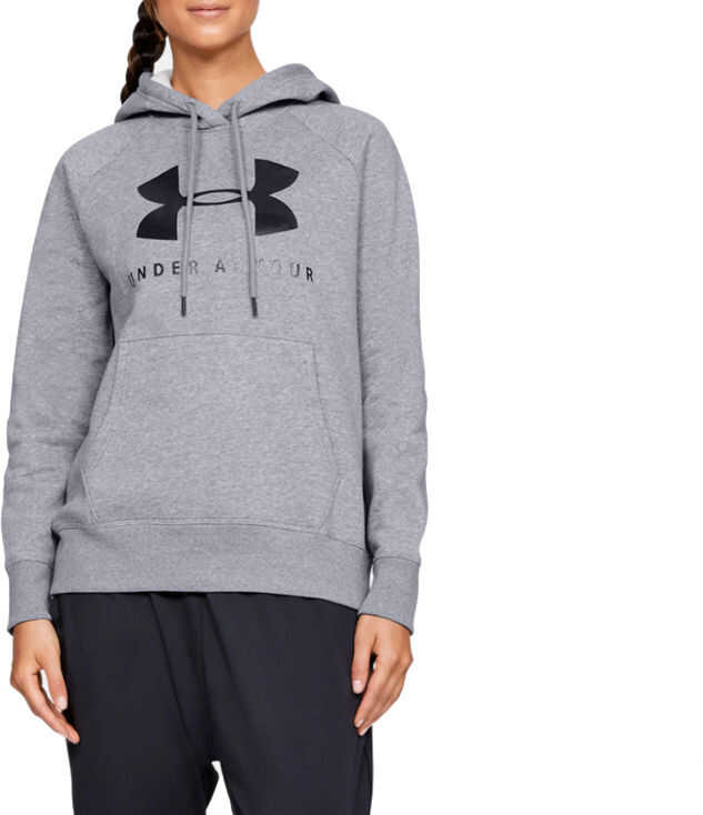 Under Armour Rival Fleece Sportstyle Graphic Hoodie Grey