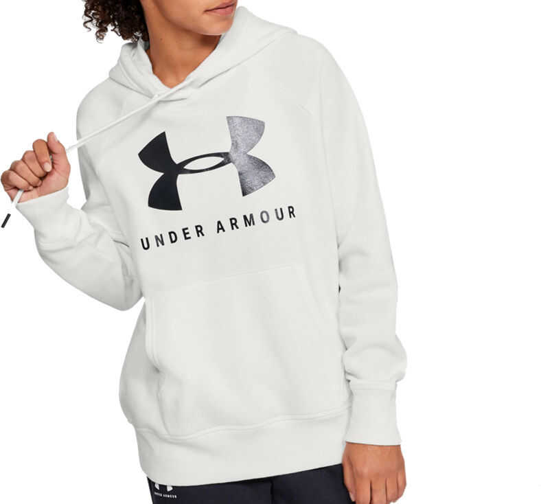 Under Armour Rival Fleece Sportstyle Graphic Hoodie White