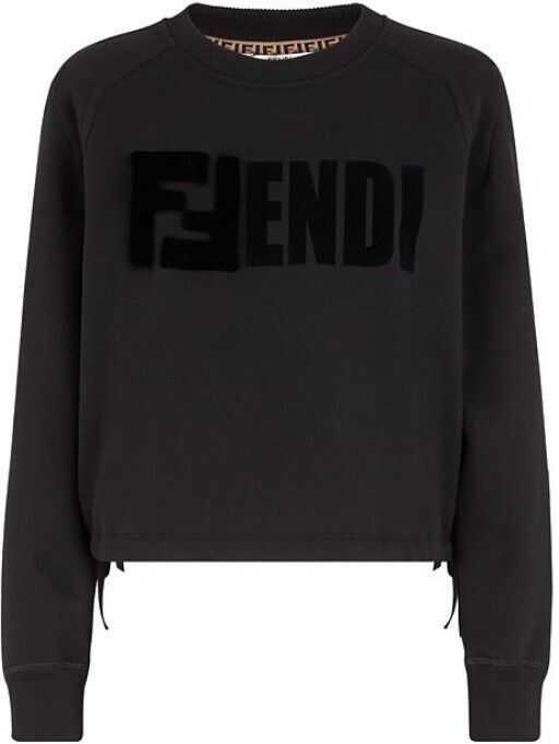 Fendi Cotton Sweatshirt BLACK