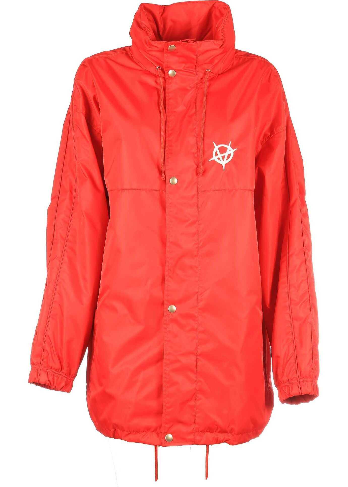 Vetements Polyamide Outerwear Jacket RED