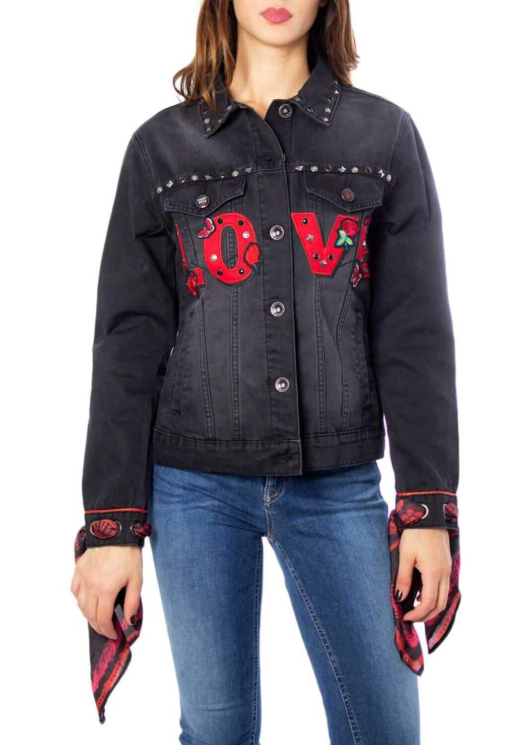 Desigual Cotton Jacket BLACK