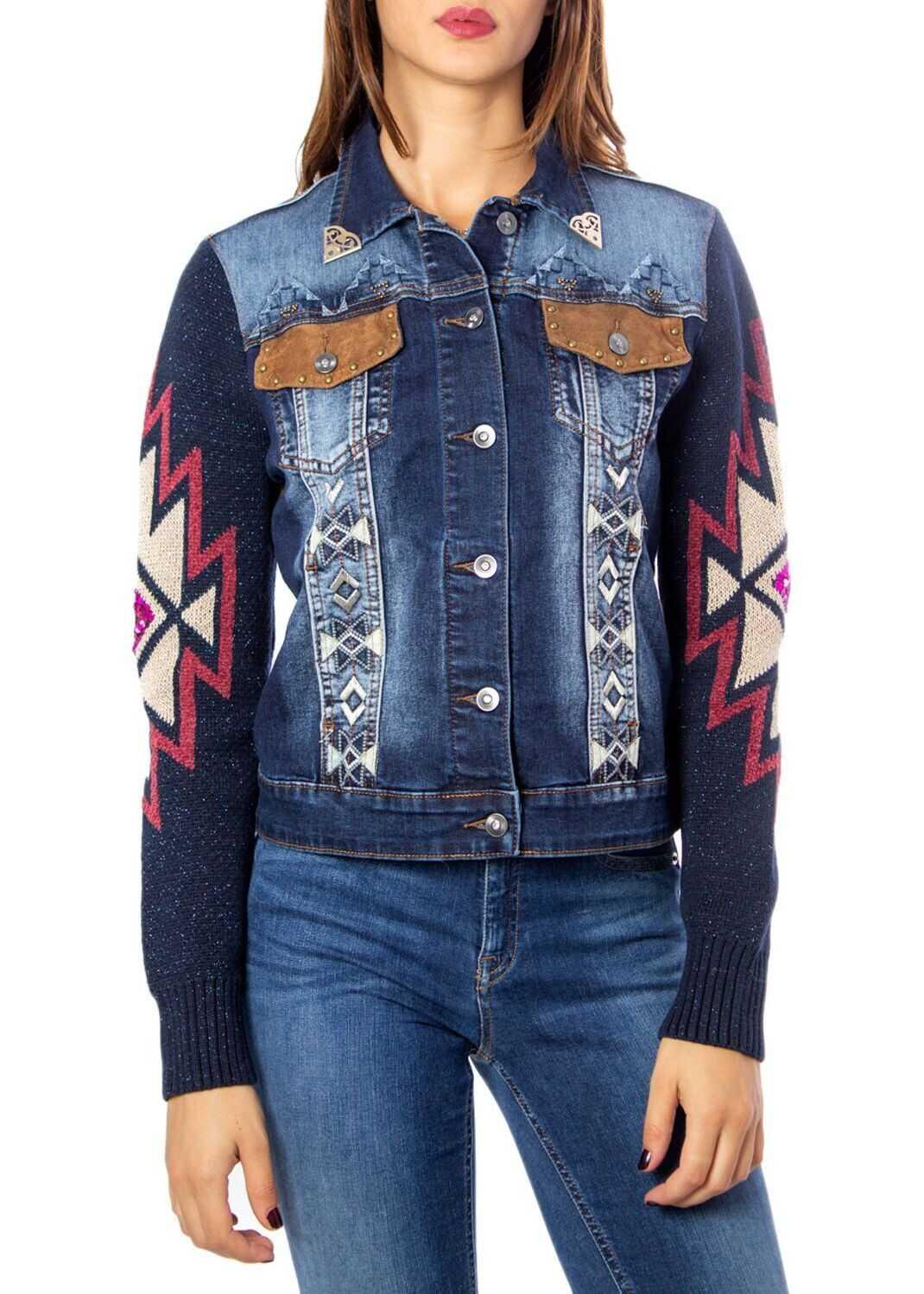 Desigual Cotton Jacket BLUE