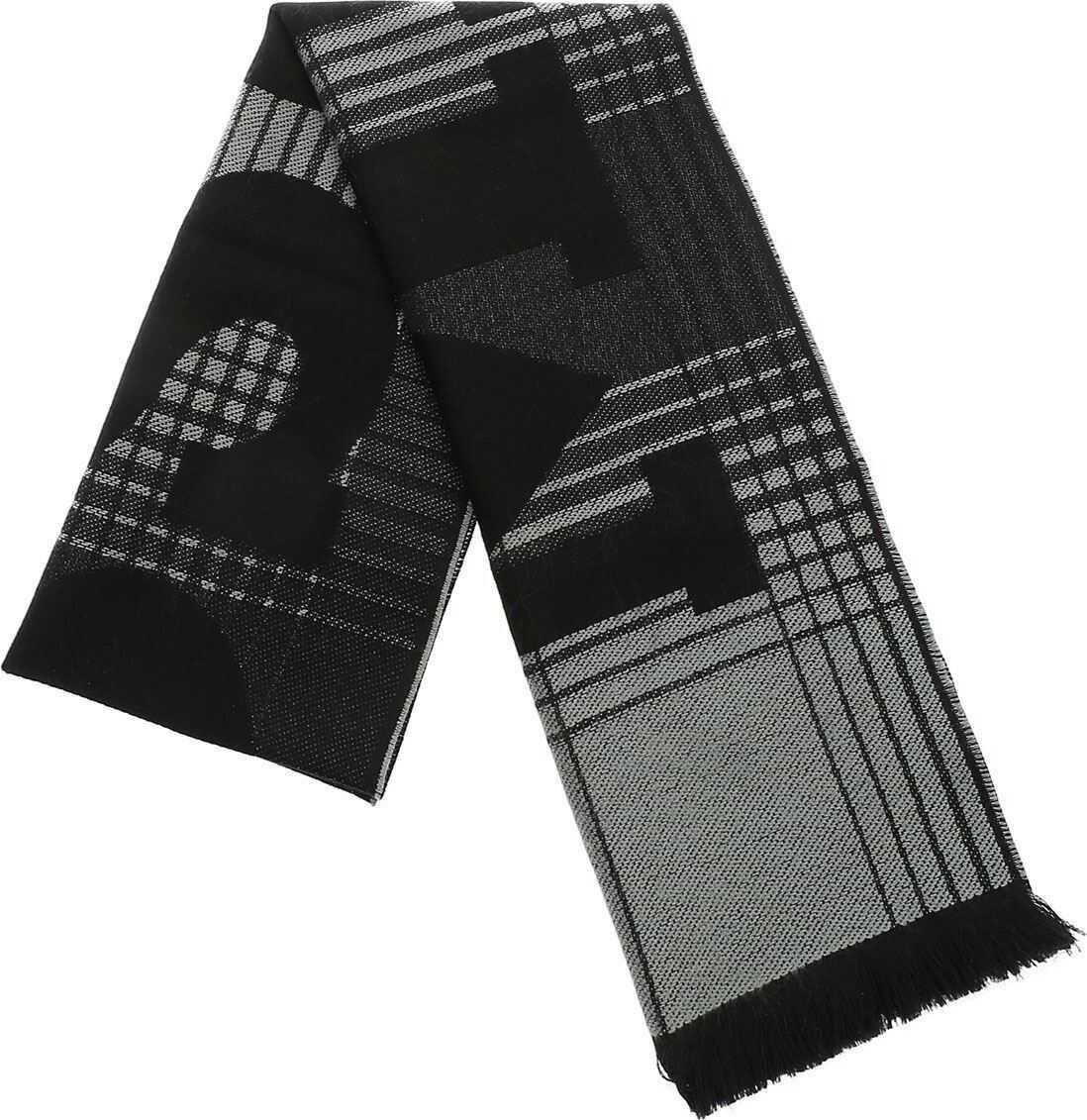 Missoni Scarf With Black And Grey Geometric Pattern Black