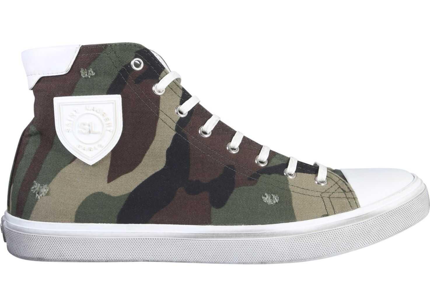 Saint Laurent Bedford Star Sneakers MILITARY GREEN