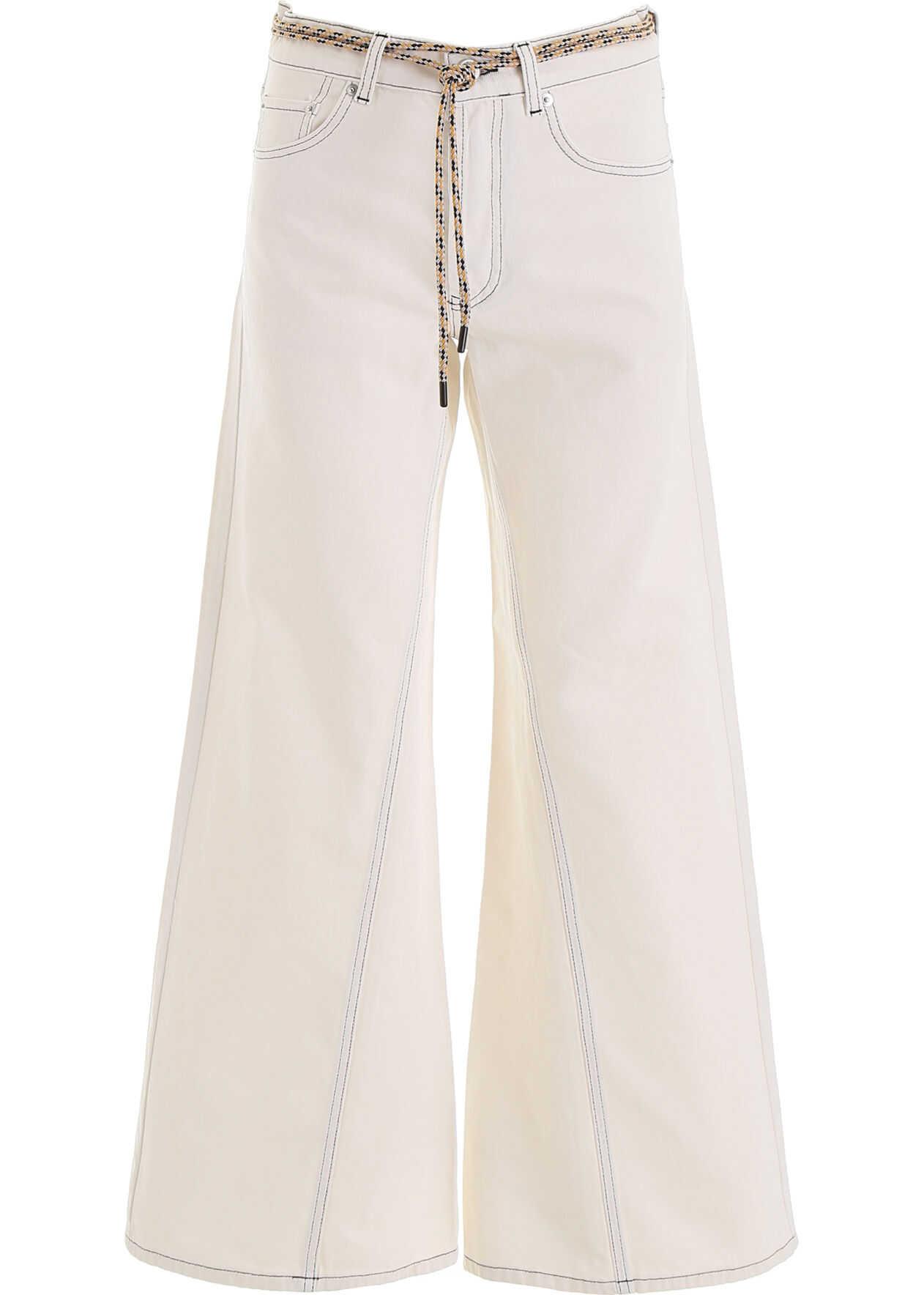 Ganni Flared Jeans WHITE