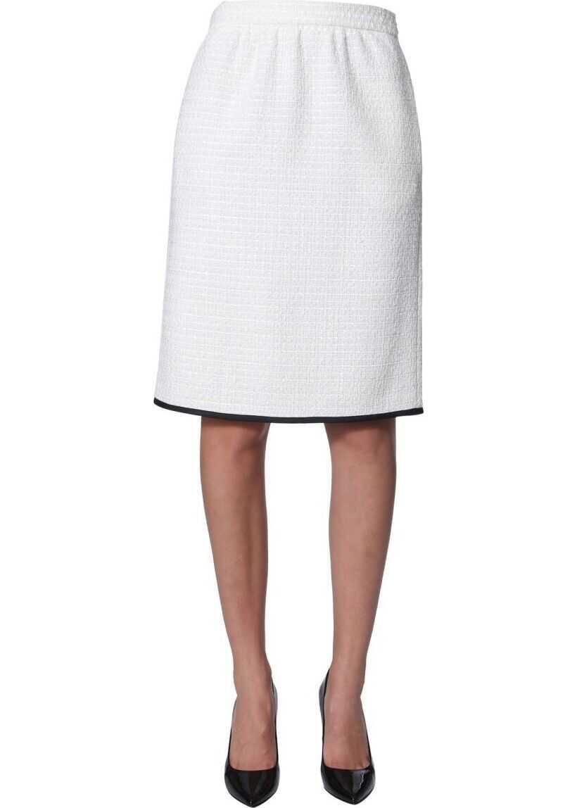 LOVE Moschino Wool Skirt WHITE