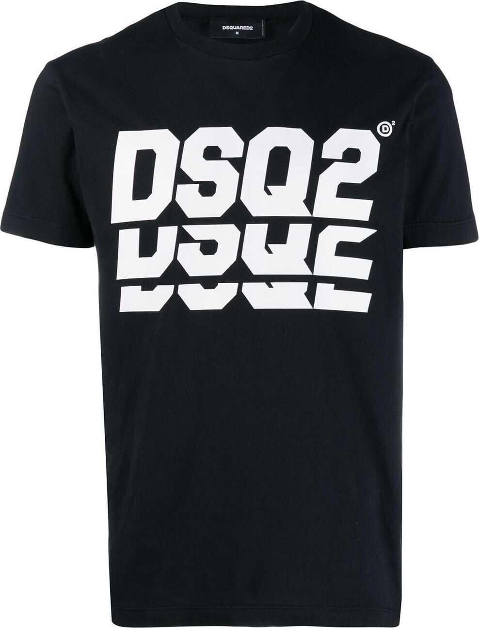 DSQUARED2 Cotton T-Shirt BLACK