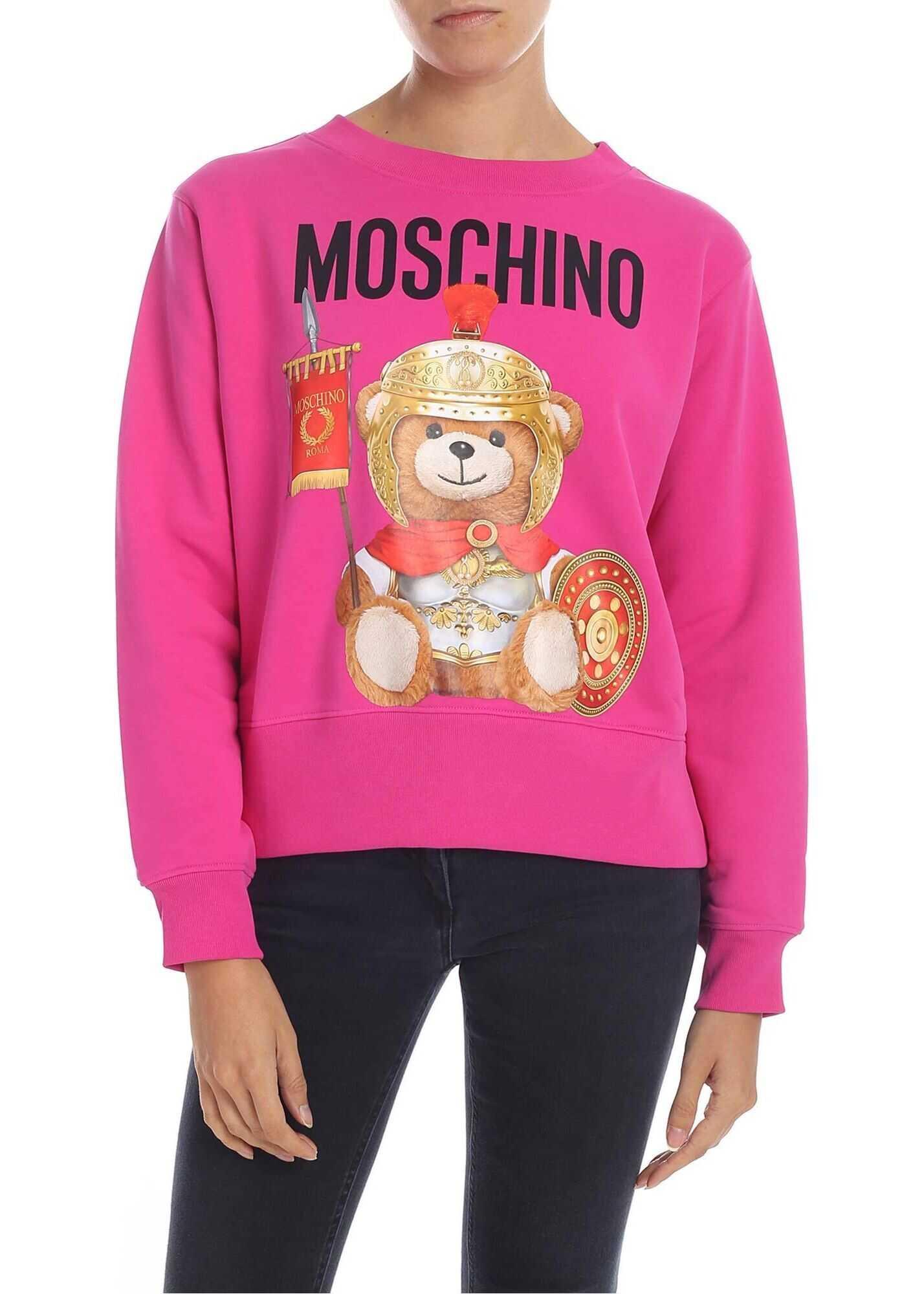 Moschino Cotton Sweatshirt FUCHSIA
