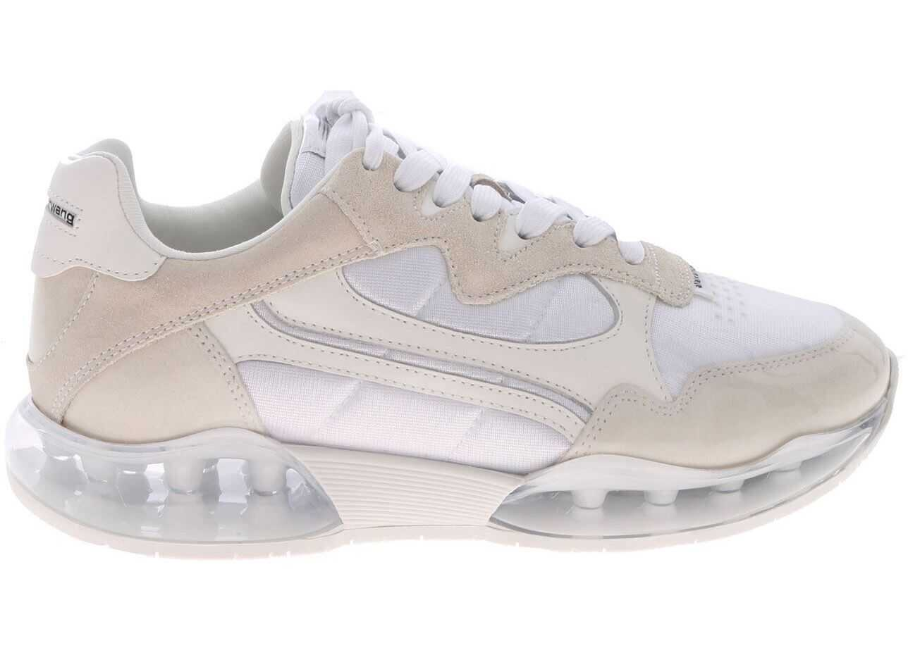 Alexander Wang Stadium Sneakers In White And Beige White