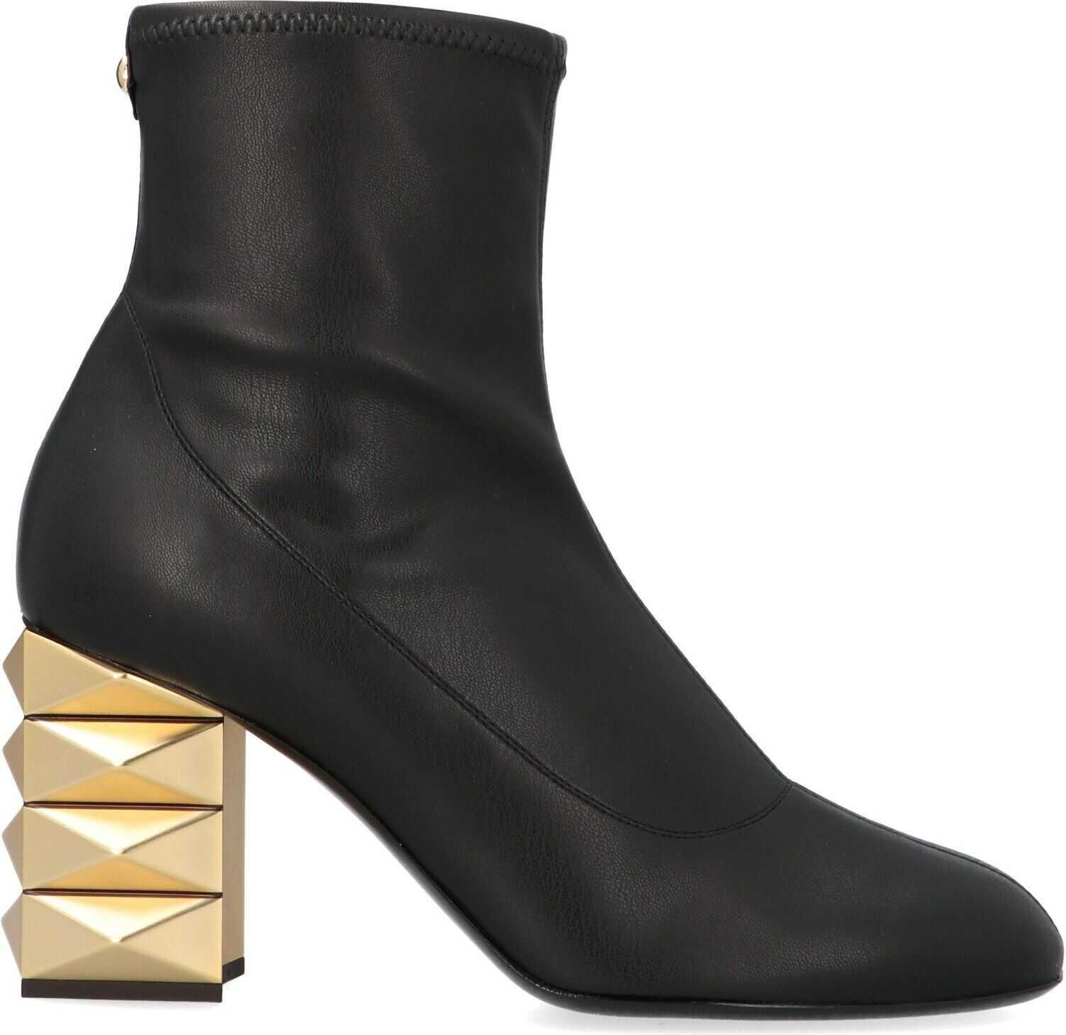 Giuseppe Zanotti Leather Ankle Boots BLACK