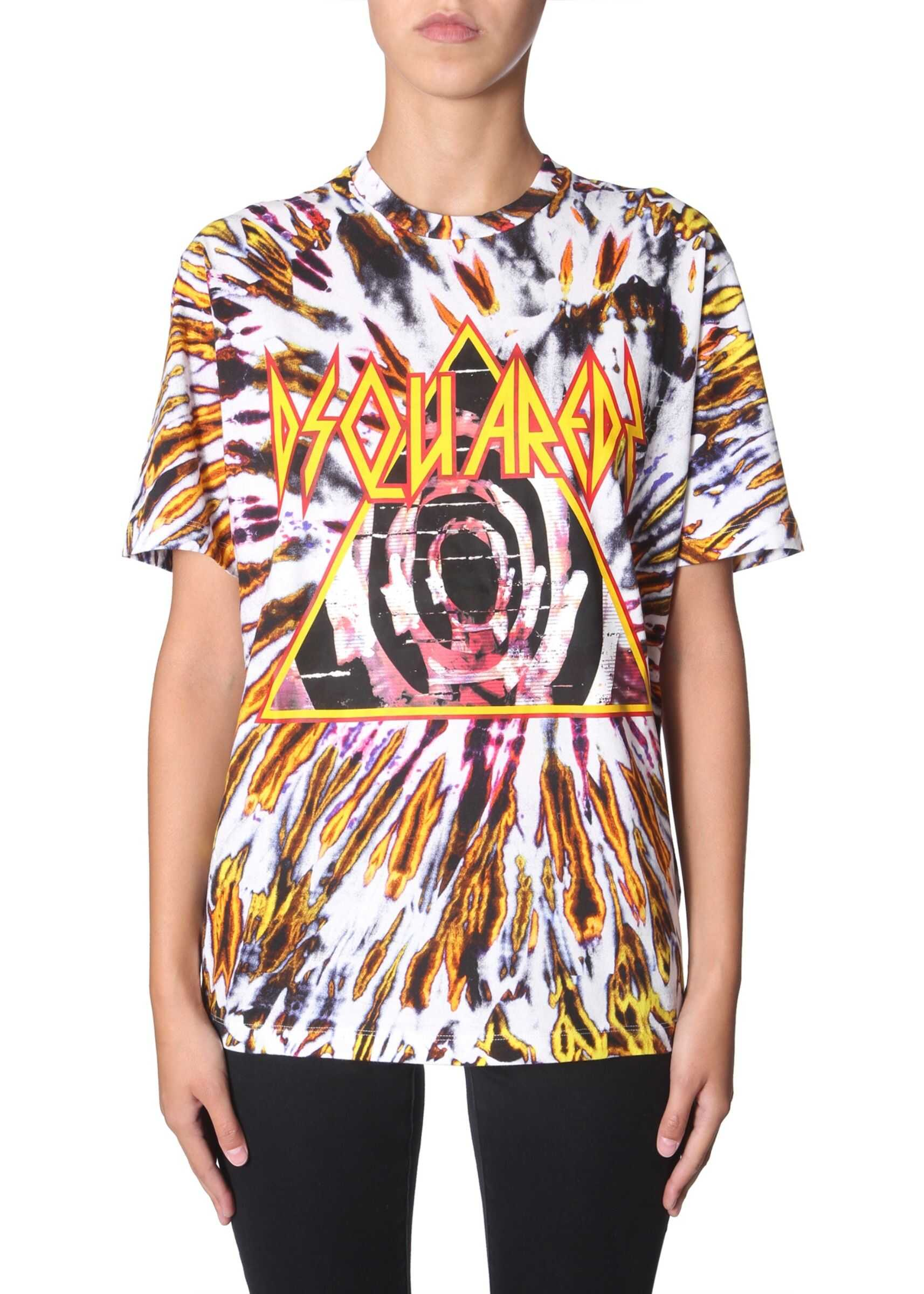 DSQUARED2 Tie And Dye Print T-Shirt MULTICOLOUR