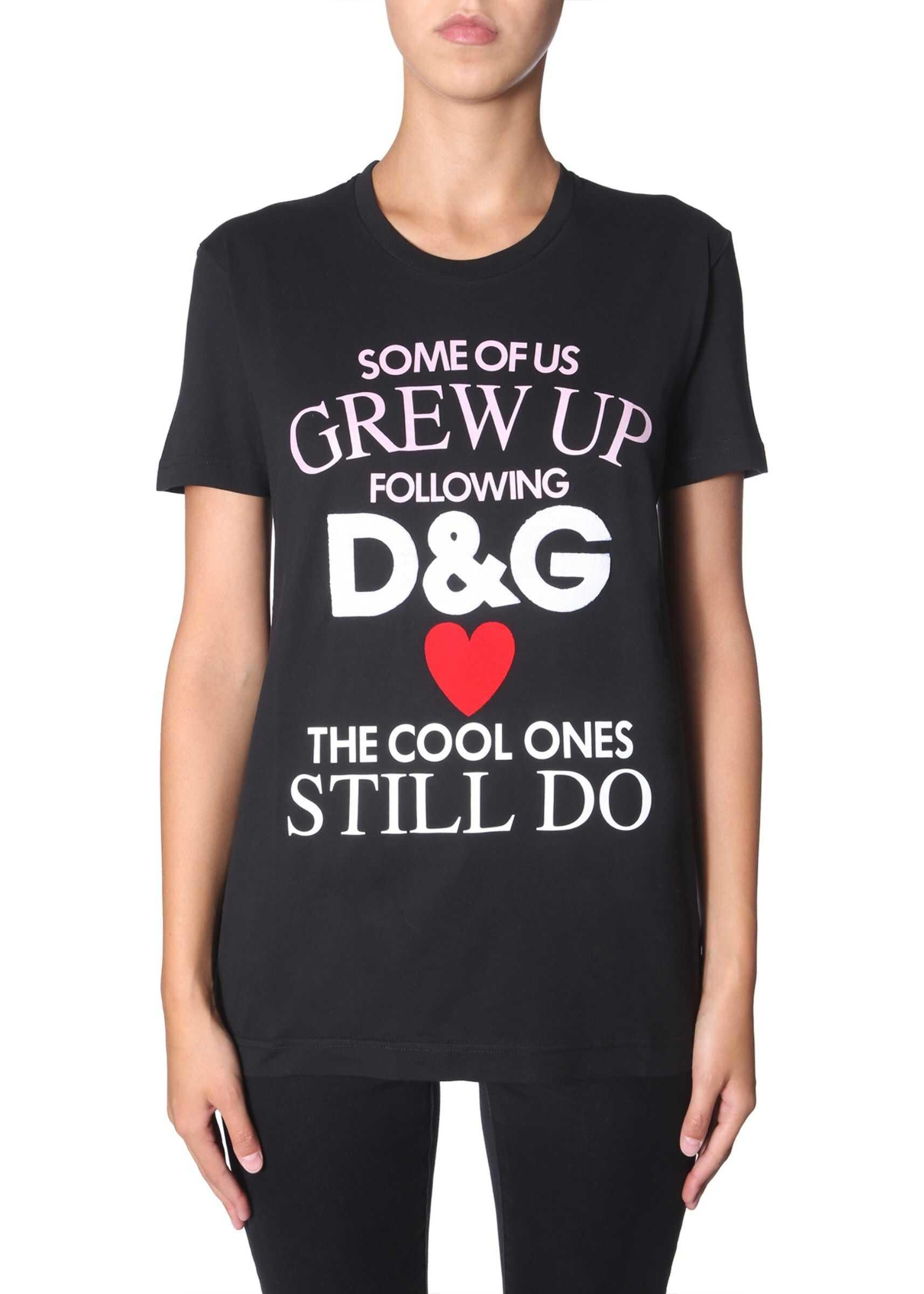 Dolce & Gabbana Round Neck T-Shirt BLACK