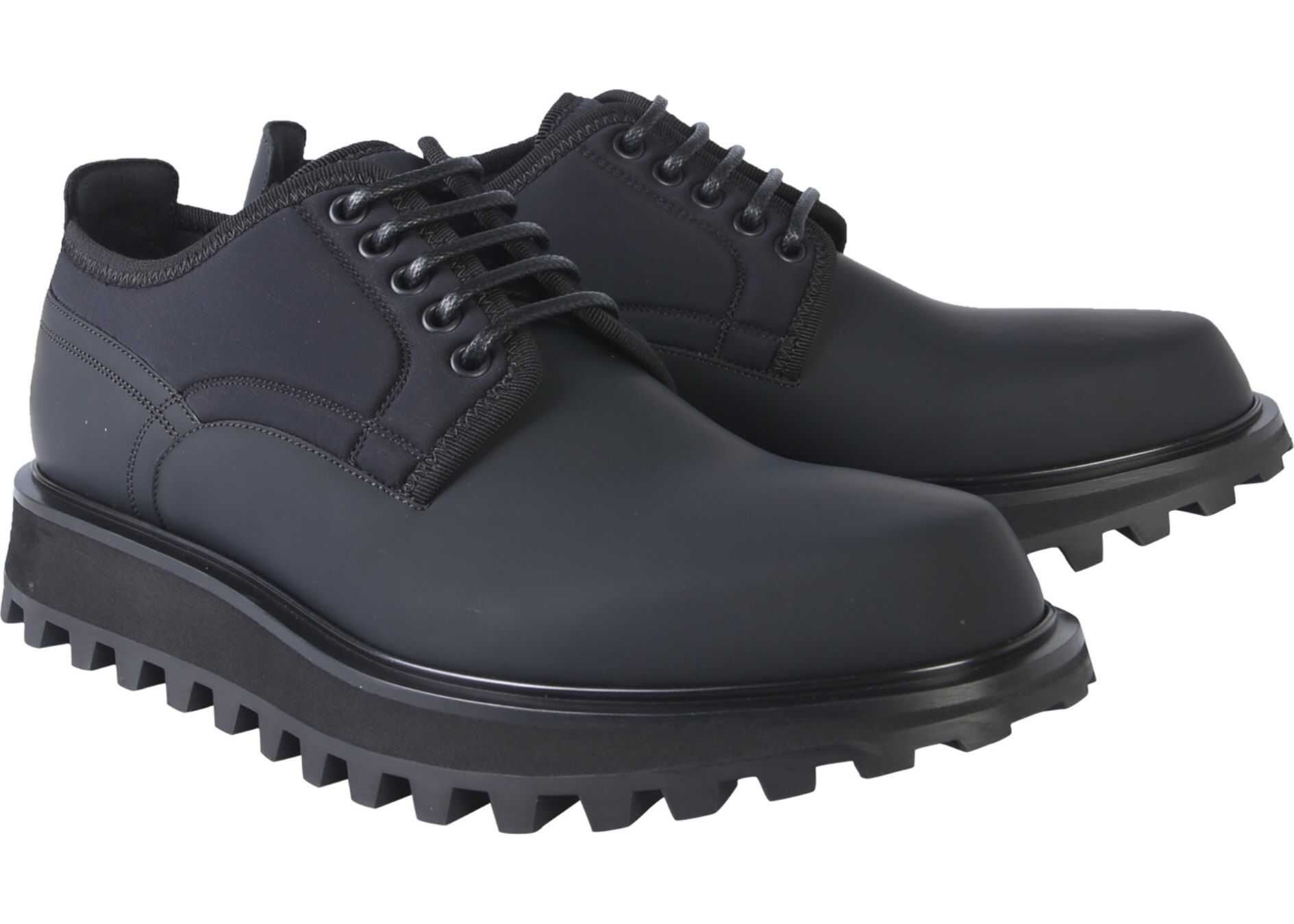Dolce & Gabbana Vulcano Derby Shoe BLACK