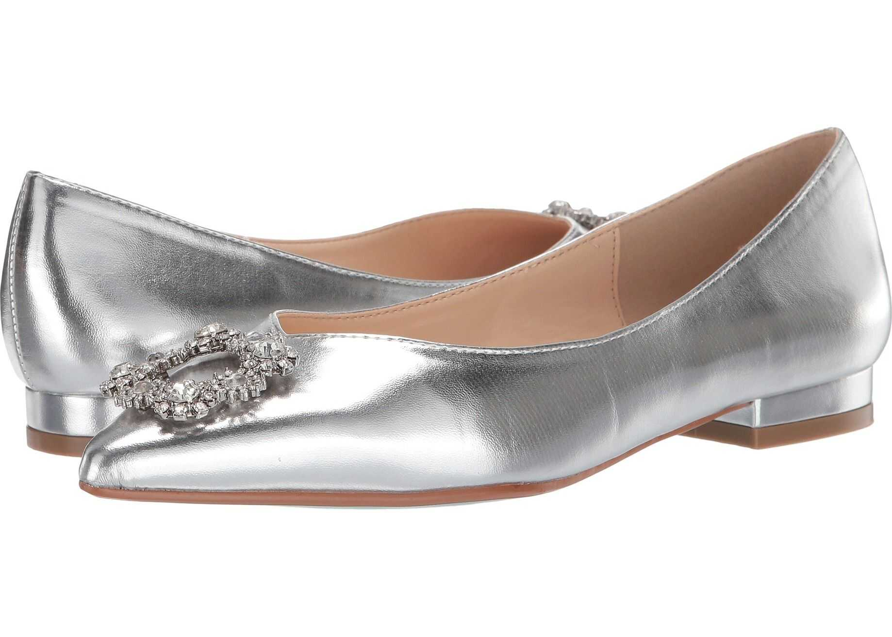Blue by Betsey Johnson Diana Flat Silver Metallic
