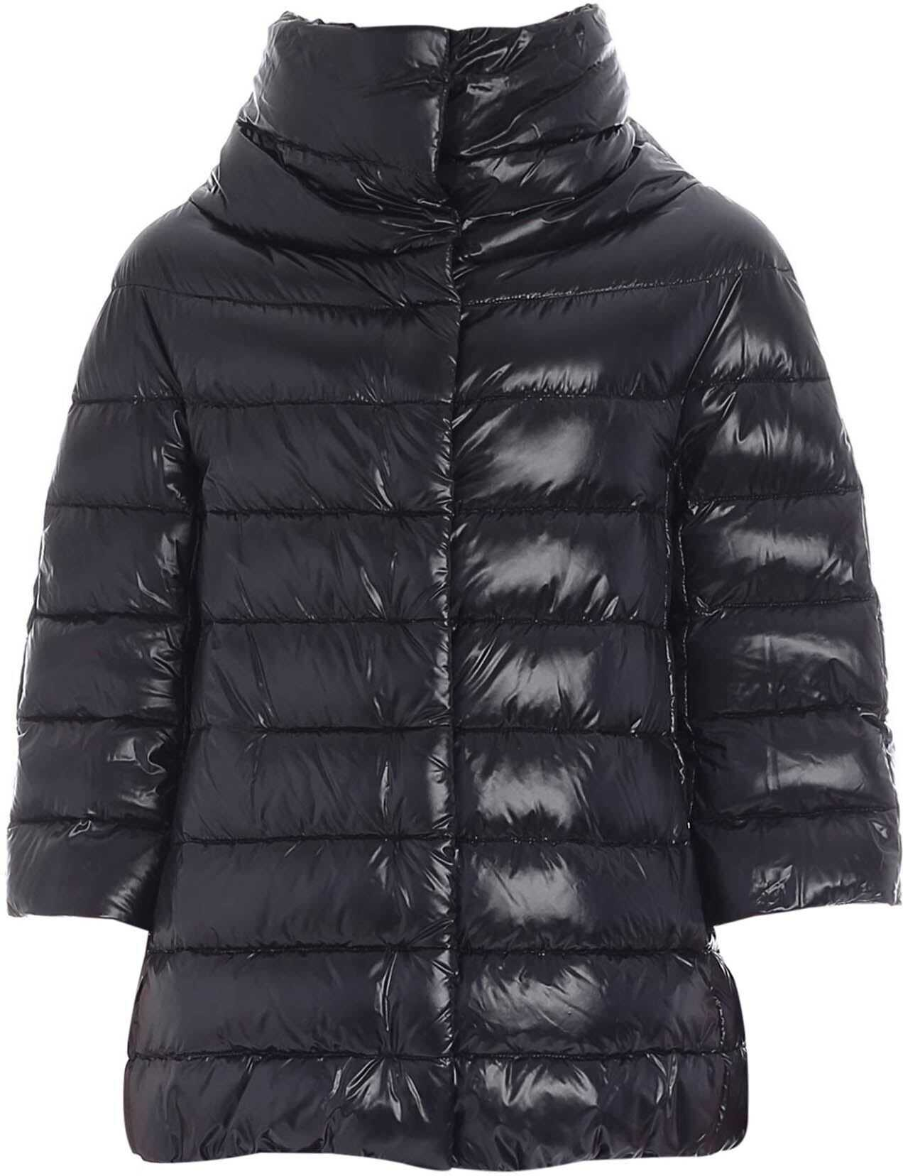 Herno Aminta Iconic Down Jacket In Black Black