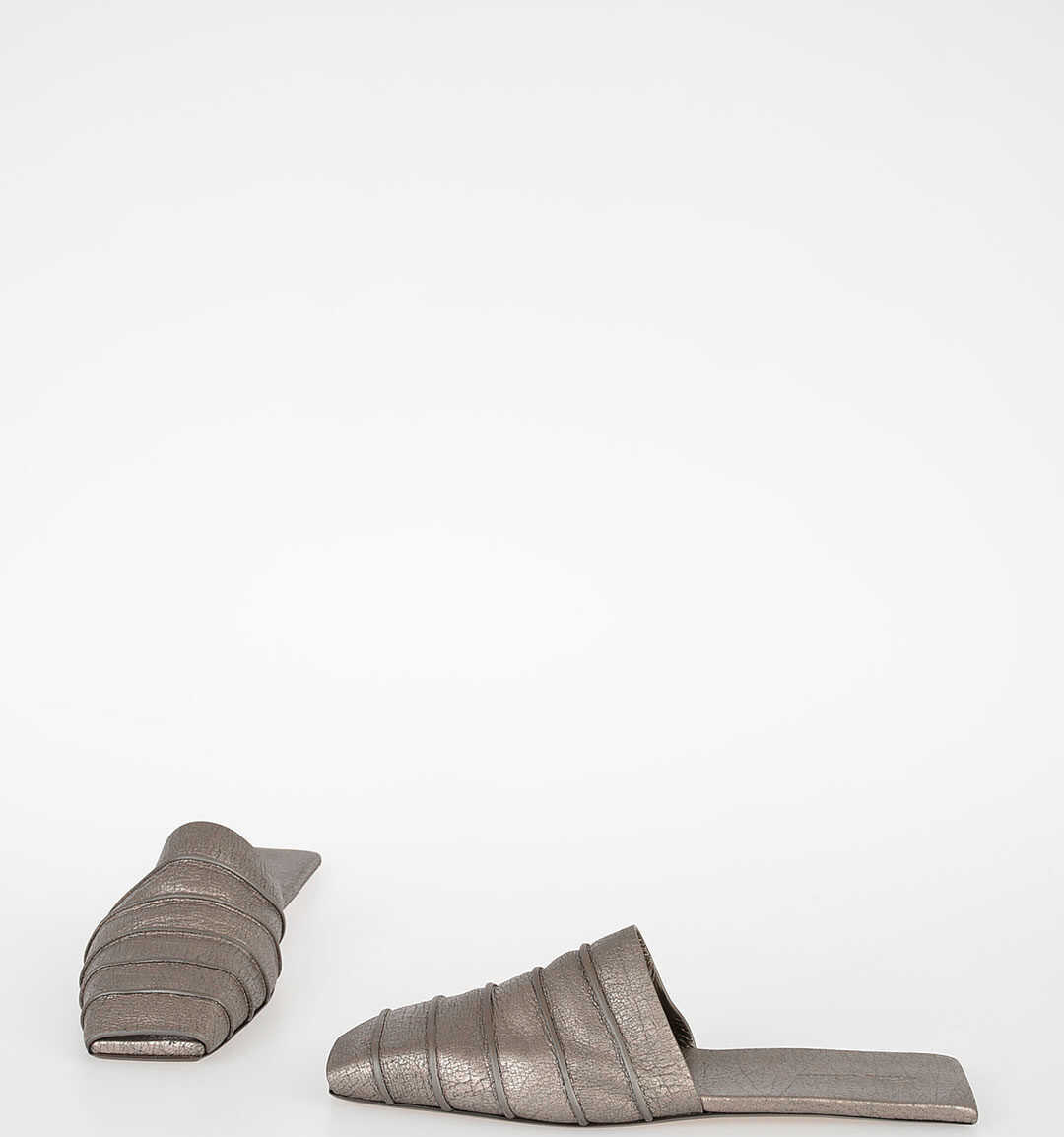 Rick Owens Leather RUHLMANN Sabot SILVER