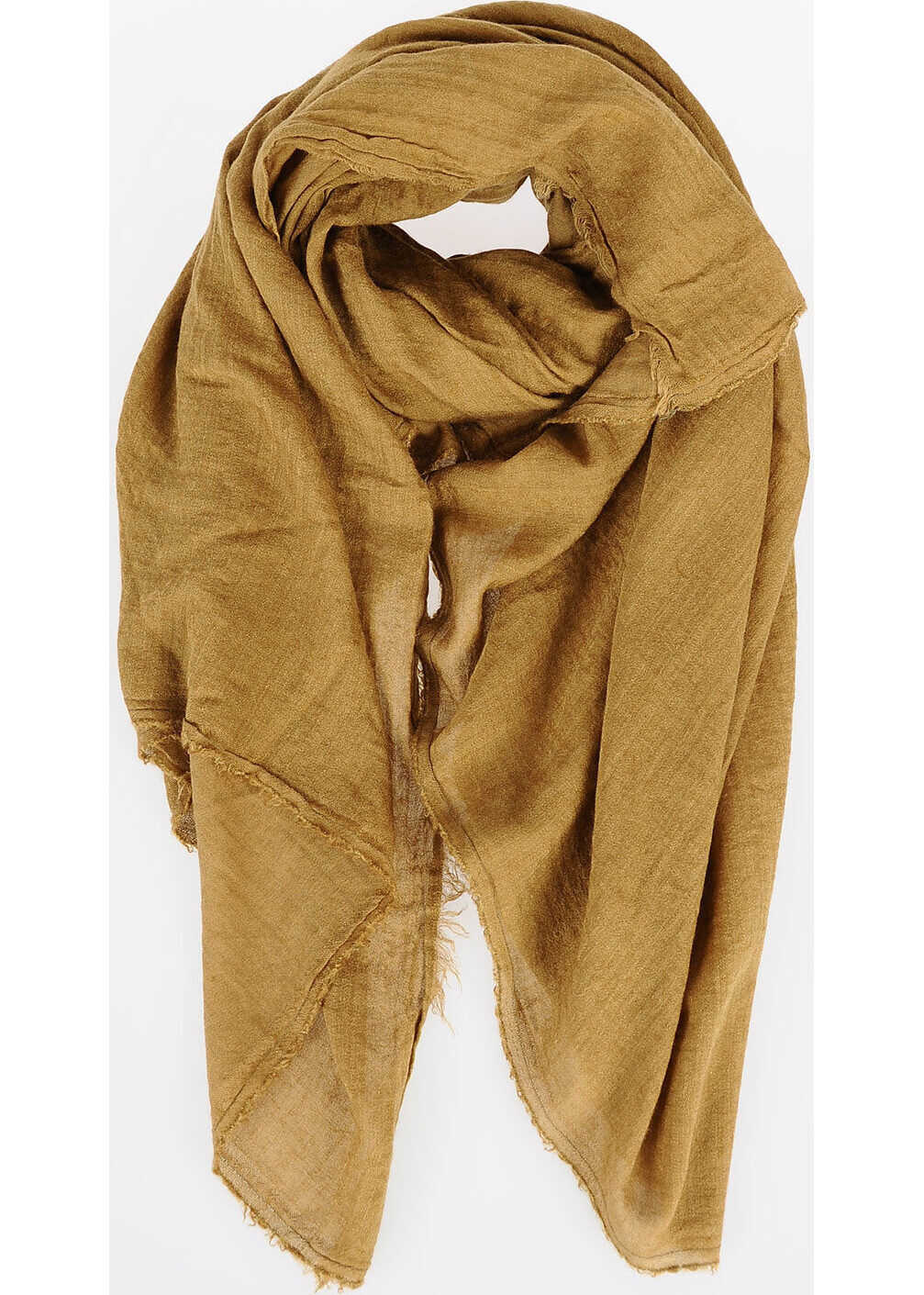 Rick Owens Cashmere Blend Pashmina Scarf FERN GREEN BROWN
