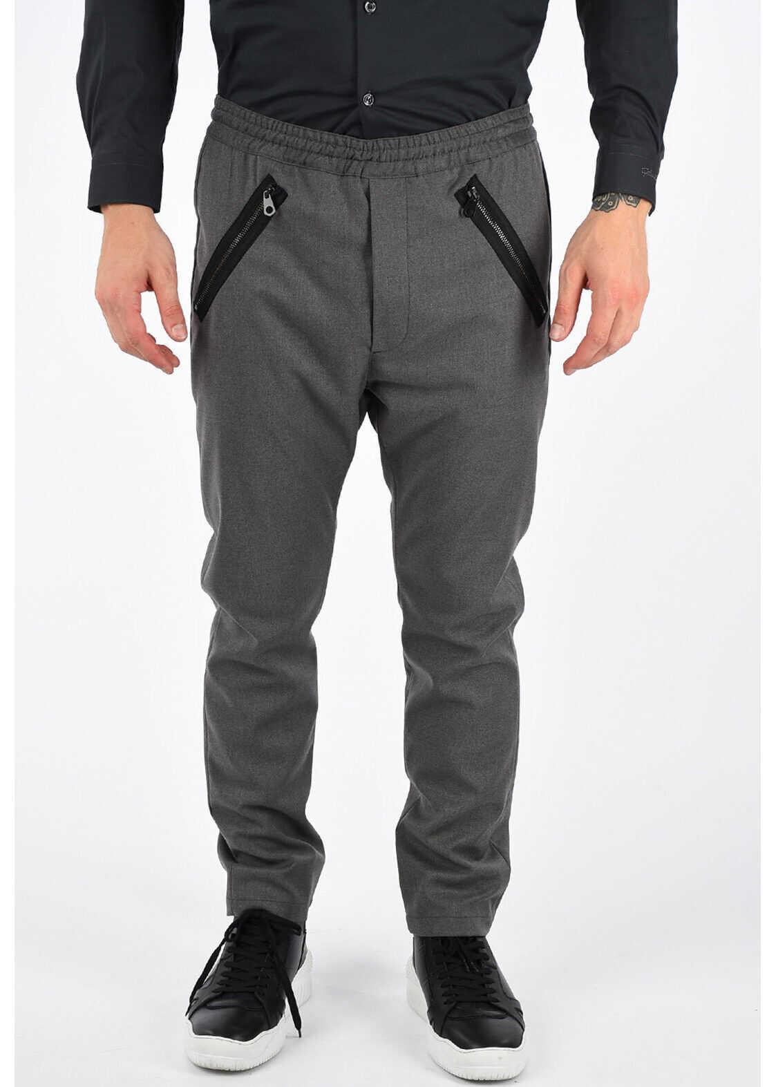 Just Cavalli Straight Leg Pants DARK GRAY