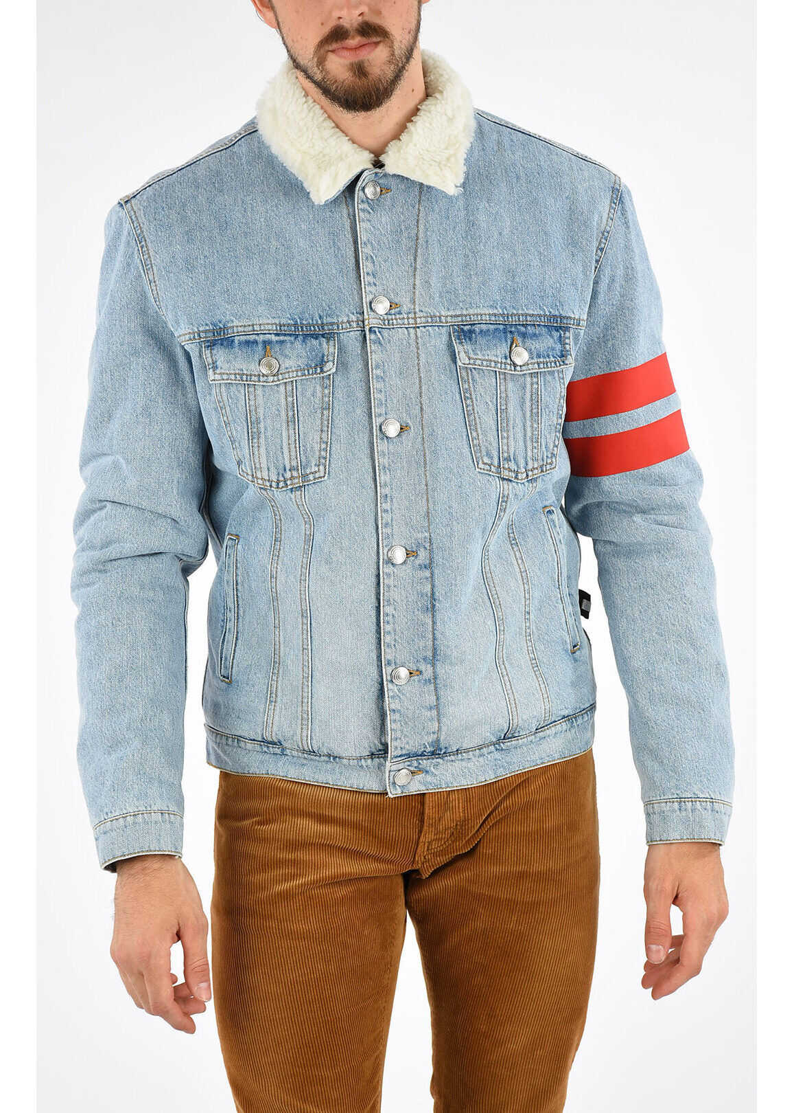 GCDS Embroidered Denim Jacket BLUE