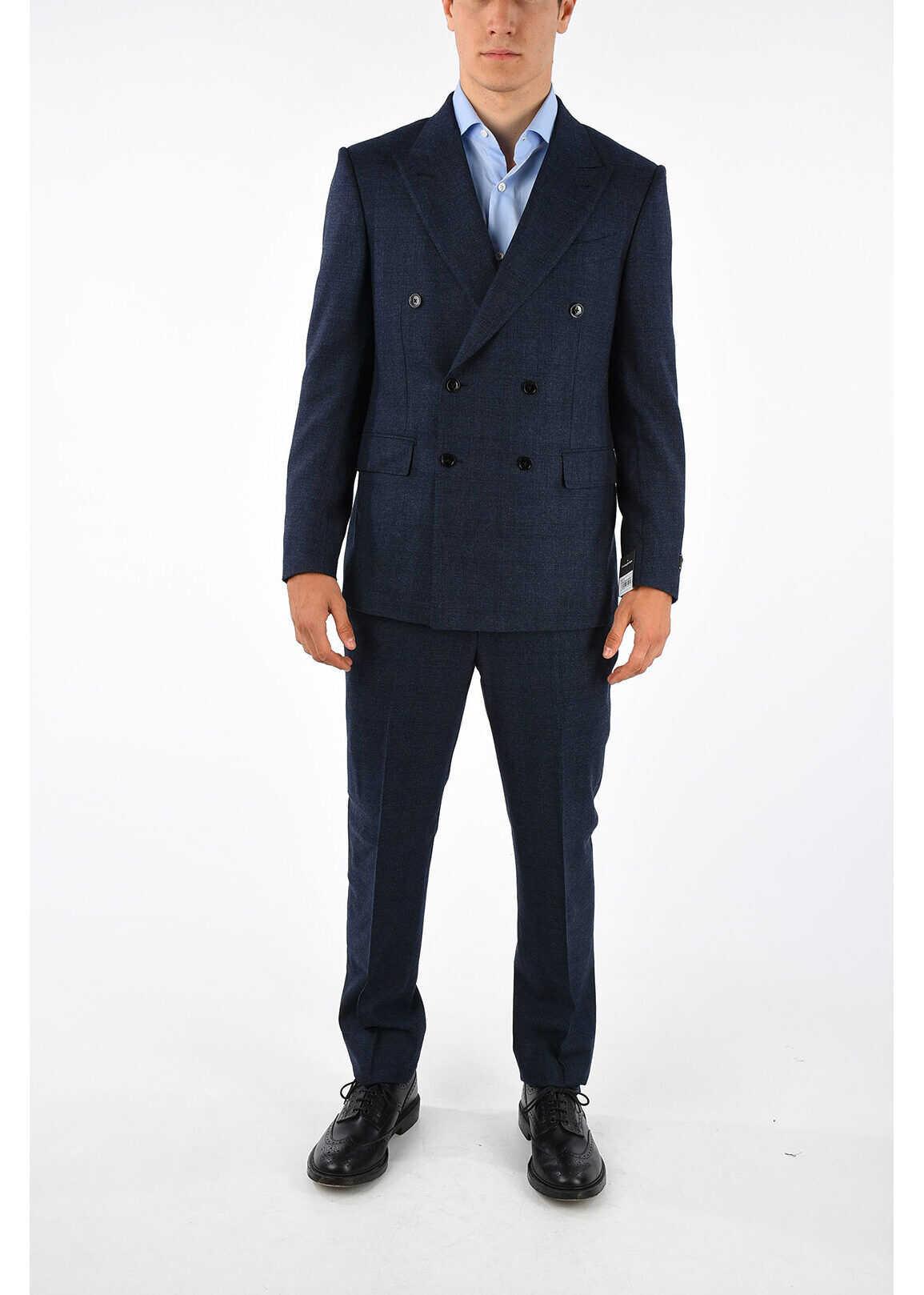 Ermenegildo Zegna Cashmere Silk Suit BLUE