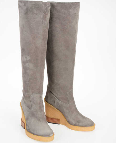 Cizme Dama TOD'S 11cm Leather Boots with Wedge