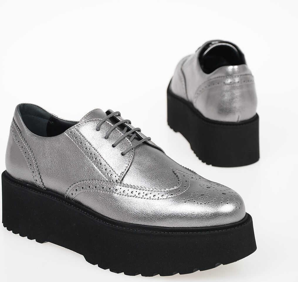Hogan Platform URBAN Derby Shoes SILVER