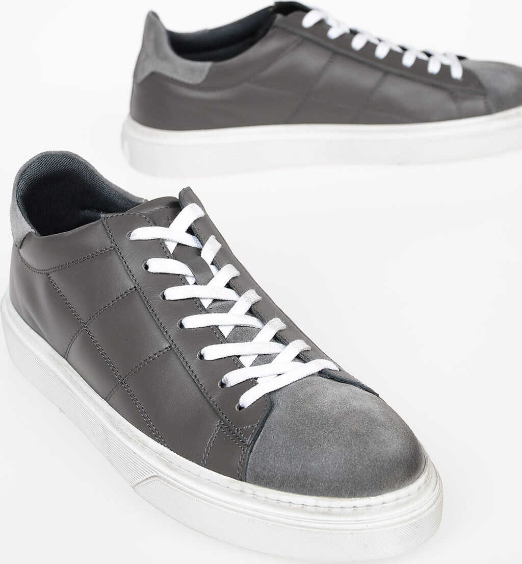 Hogan Leather H340 Sneakers GRAY