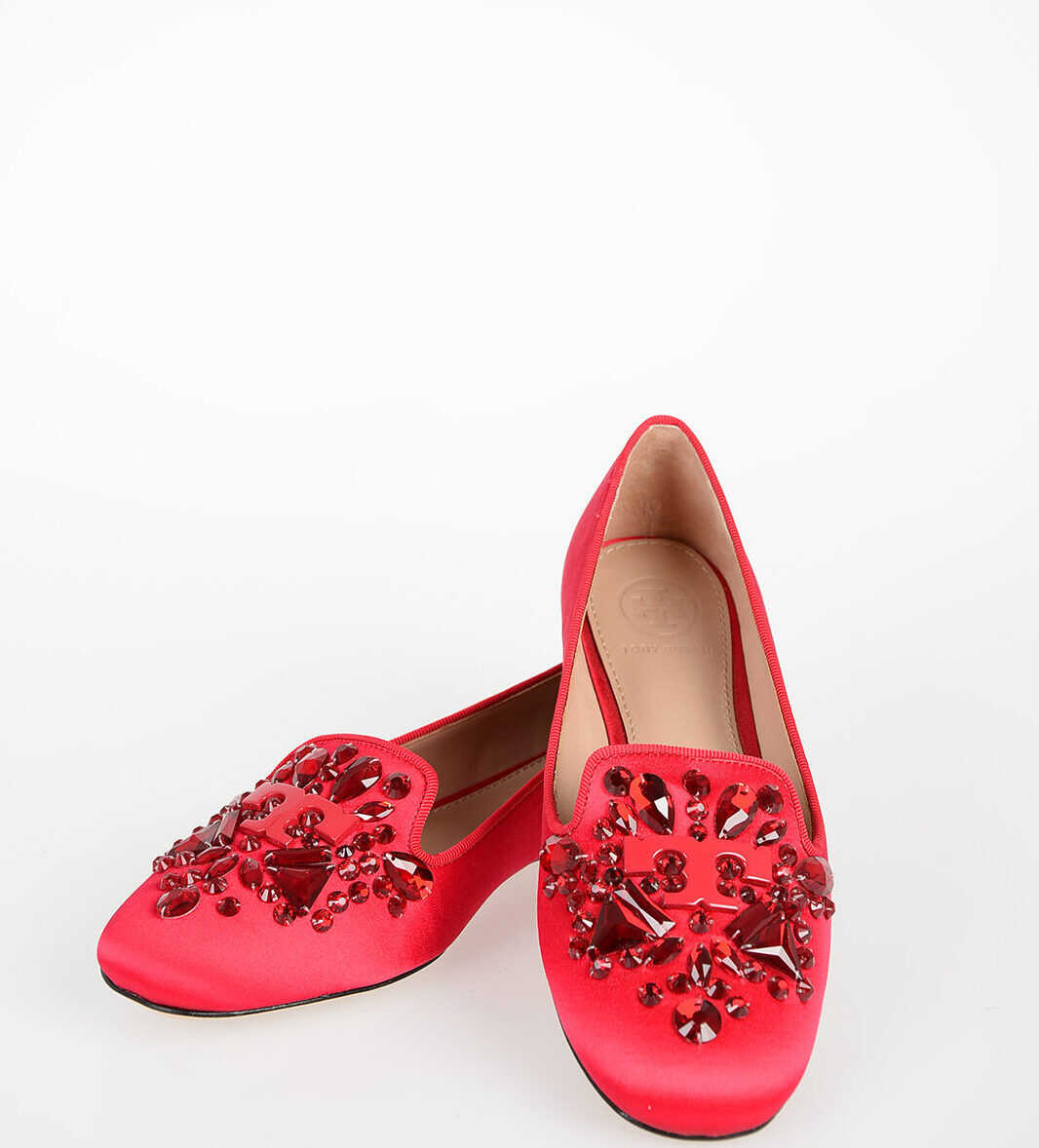 Tory Burch Embroidered Jewel DELPHINE Ballet RED