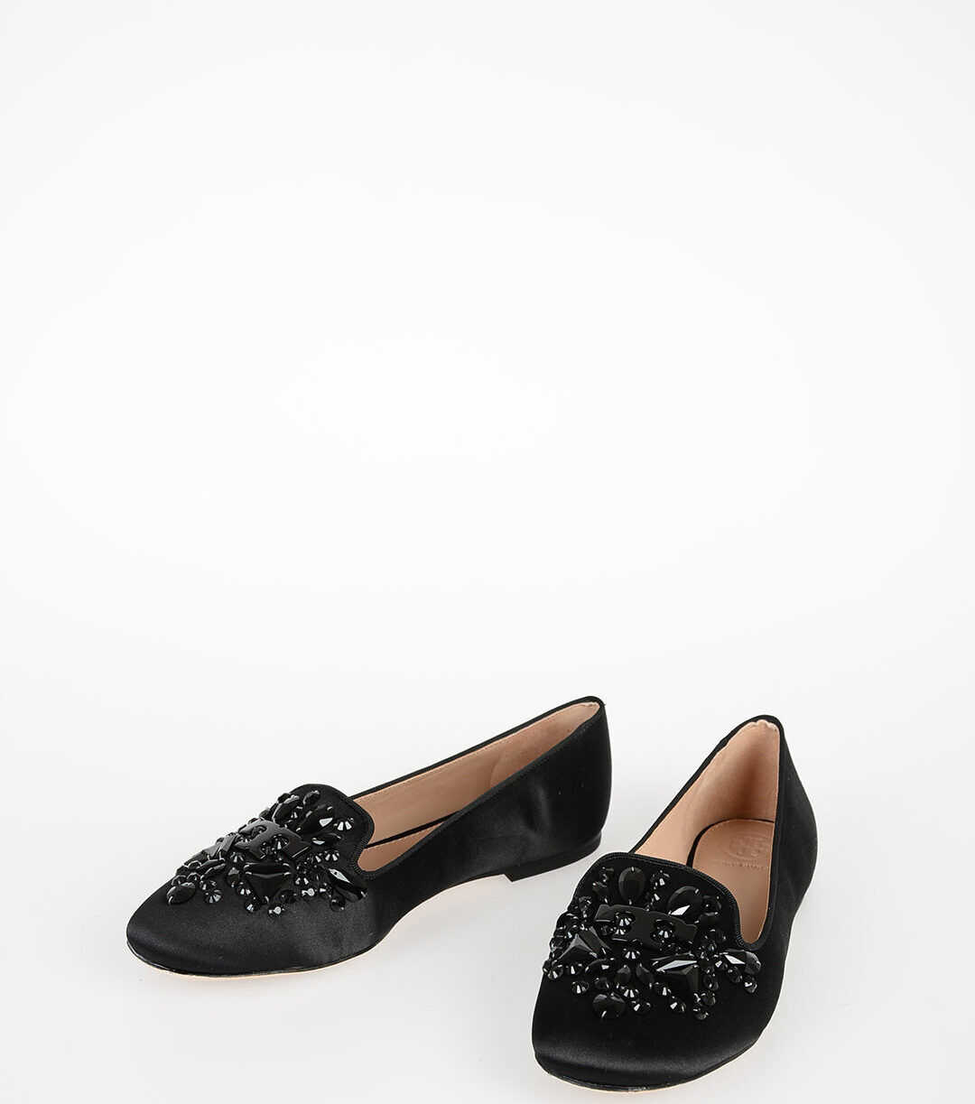 Tory Burch Embroidered Jewel DELPHINE Ballet BLACK