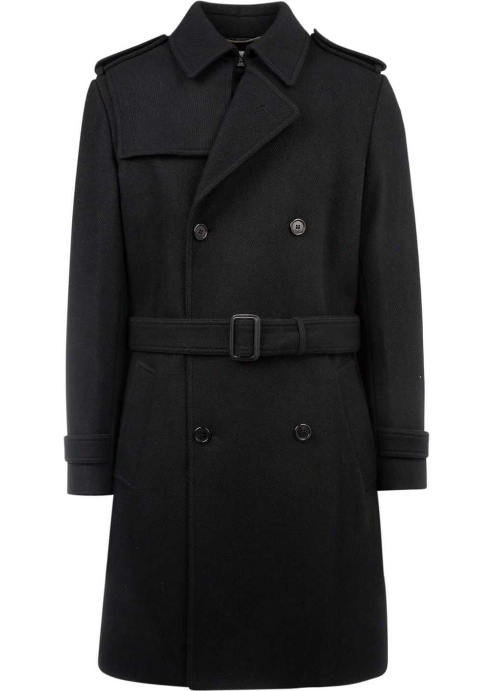 Saint Laurent Wool Coat BLACK