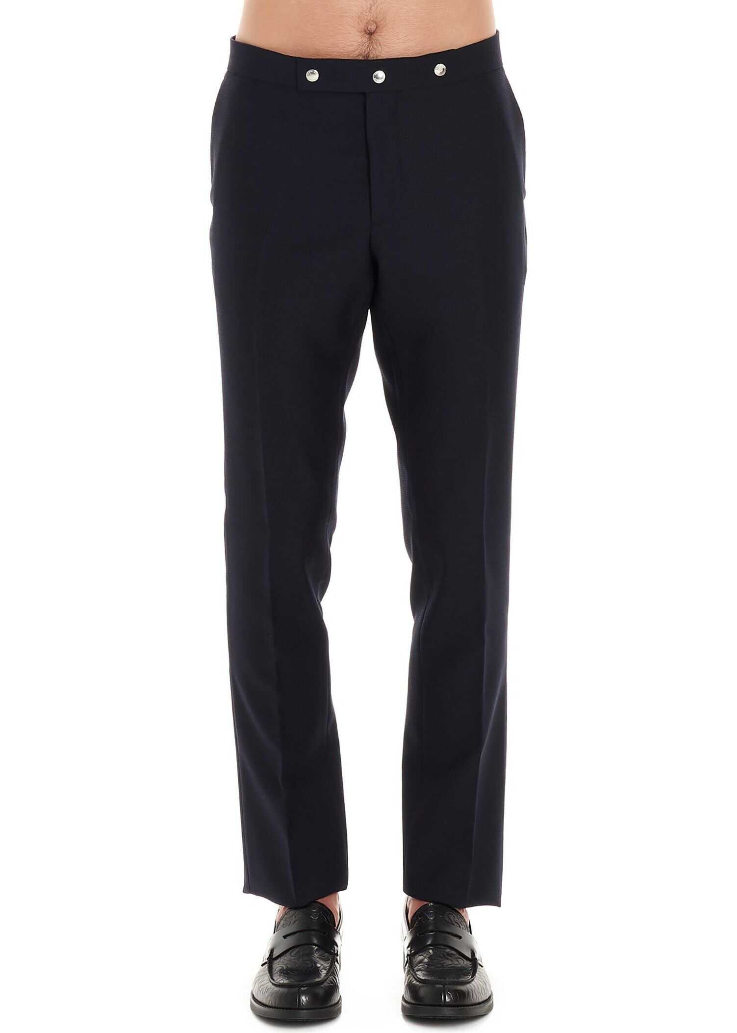 Burberry Wool Pants BLUE