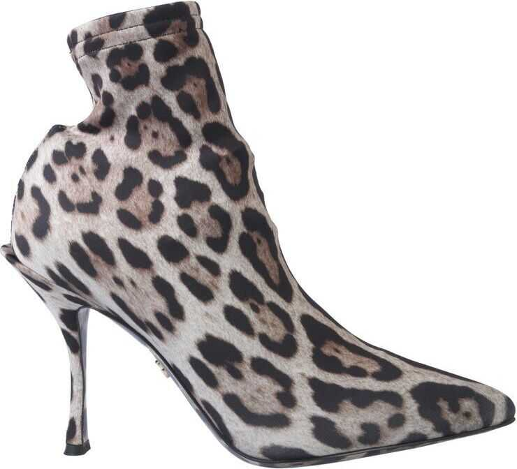 Dolce & Gabbana Polyamide Ankle Boots BEIGE