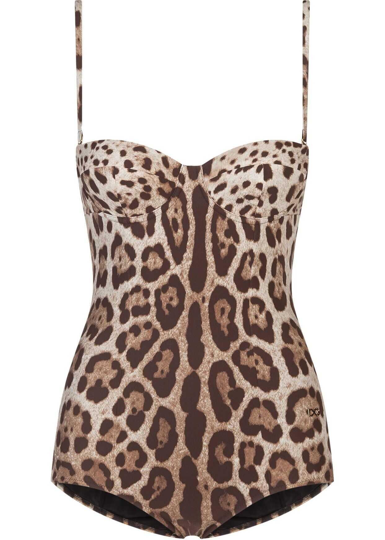 Dolce & Gabbana Polyamide One-Piece Suit BEIGE