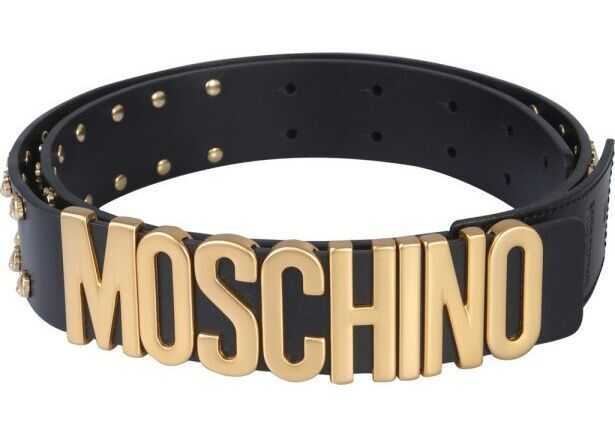 Moschino Leather Belt BLACK