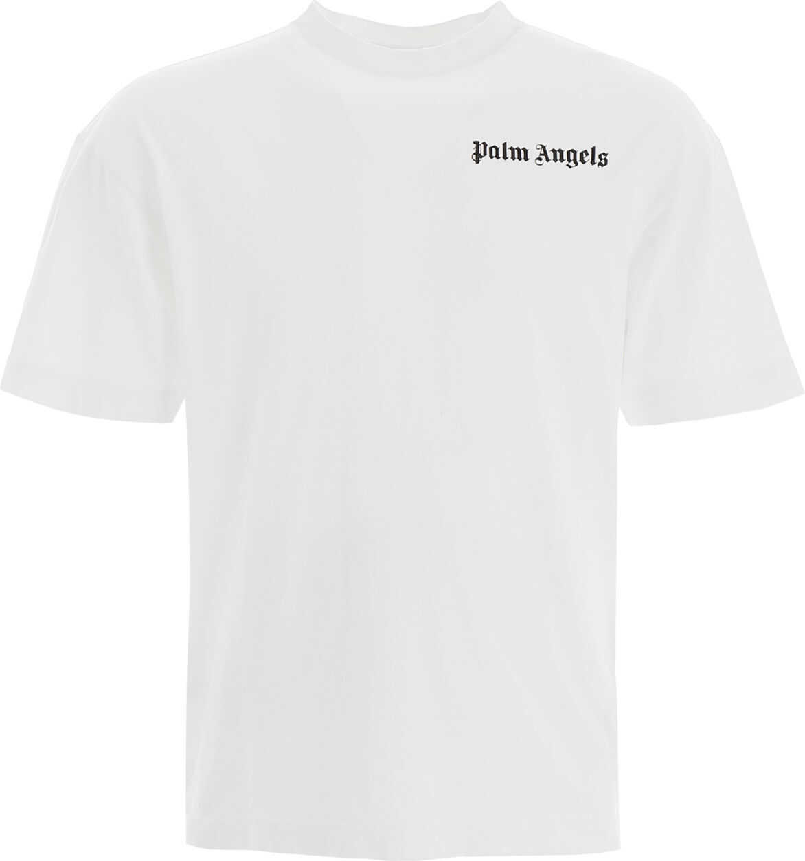 Palm Angels Logo Print T-Shirt WHITE BLACK