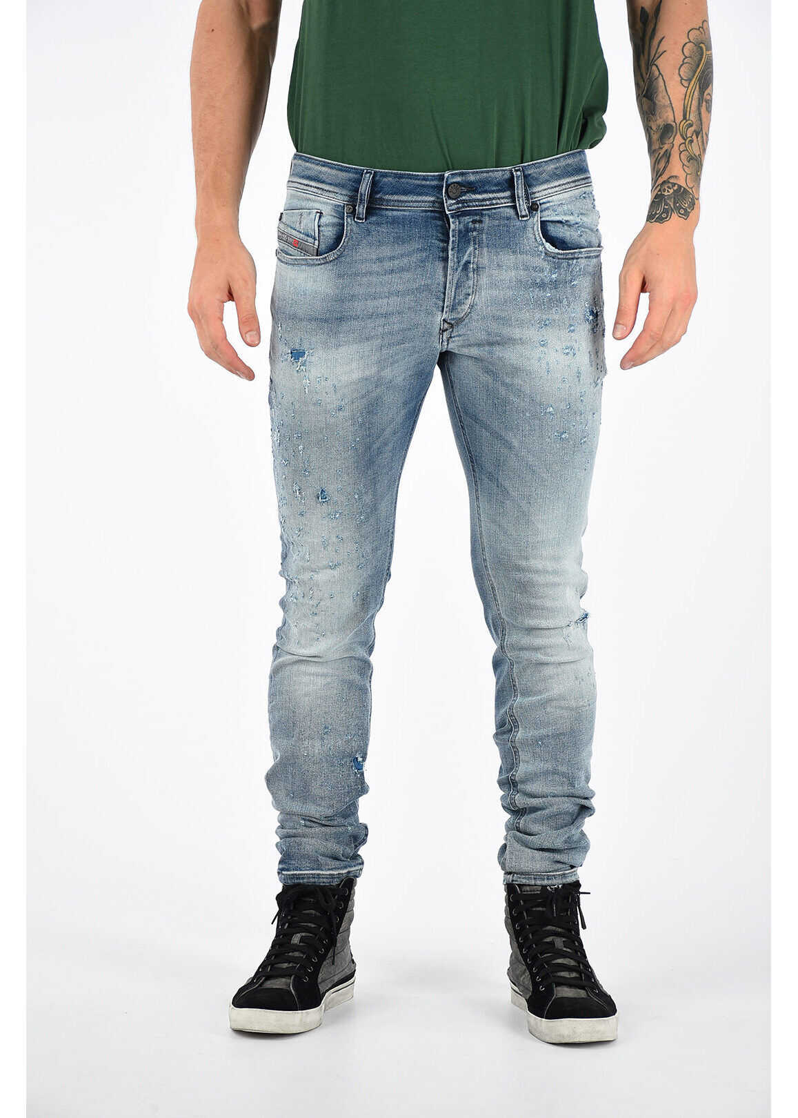 Diesel 15cm Slim fit SLEENKER L.32 Jeans BLUE imagine