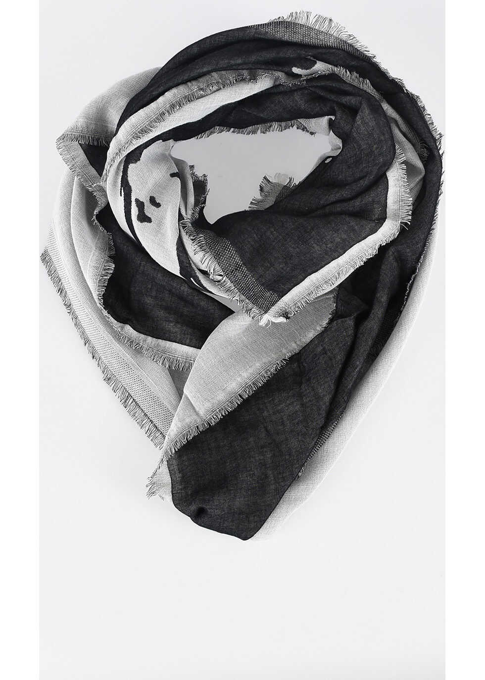 Diesel Cotton Wool Cashmere SMOIKA Scarf DARK GRAY