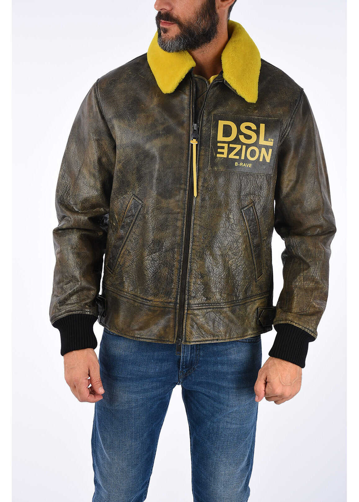 Diesel Leather BOWDRE Jacket BROWN