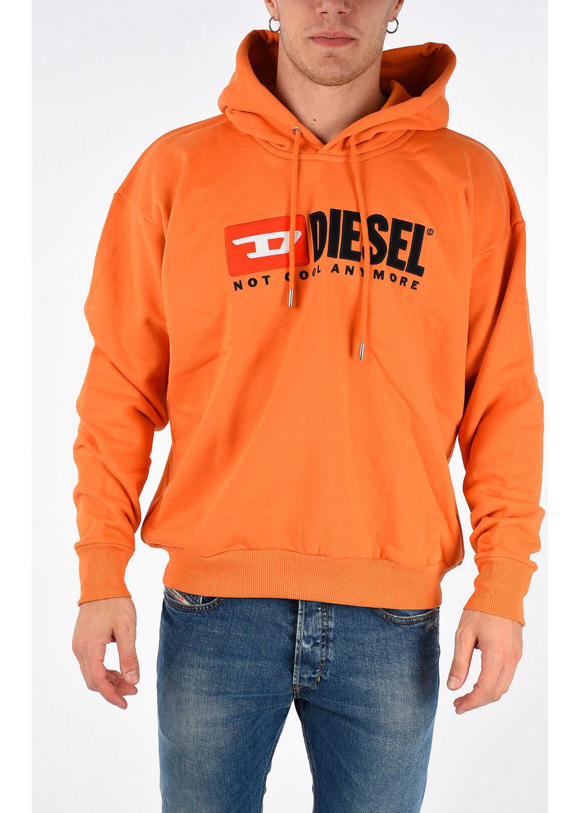 Diesel Embroidered HC-S-DIVISION-A Sweatshirt ORANGE