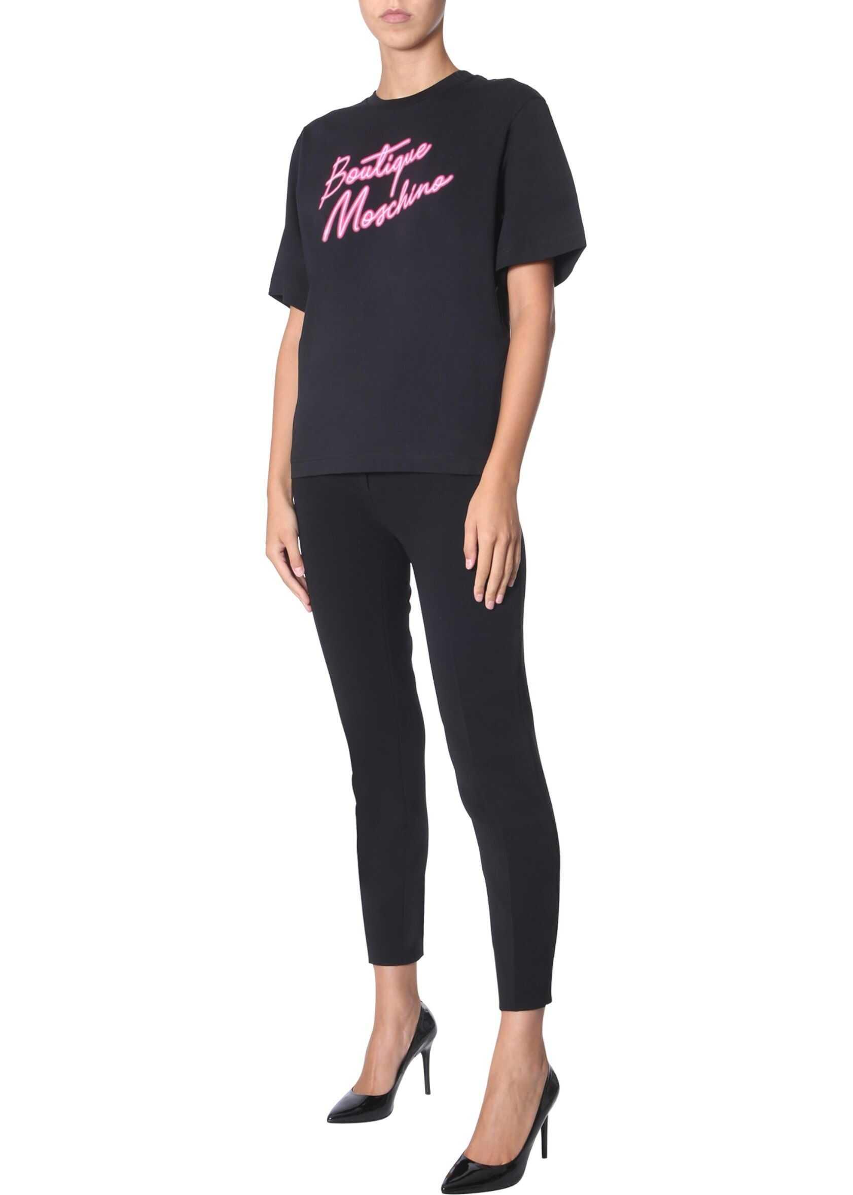 LOVE Moschino Round Neck T-Shirt BLACK