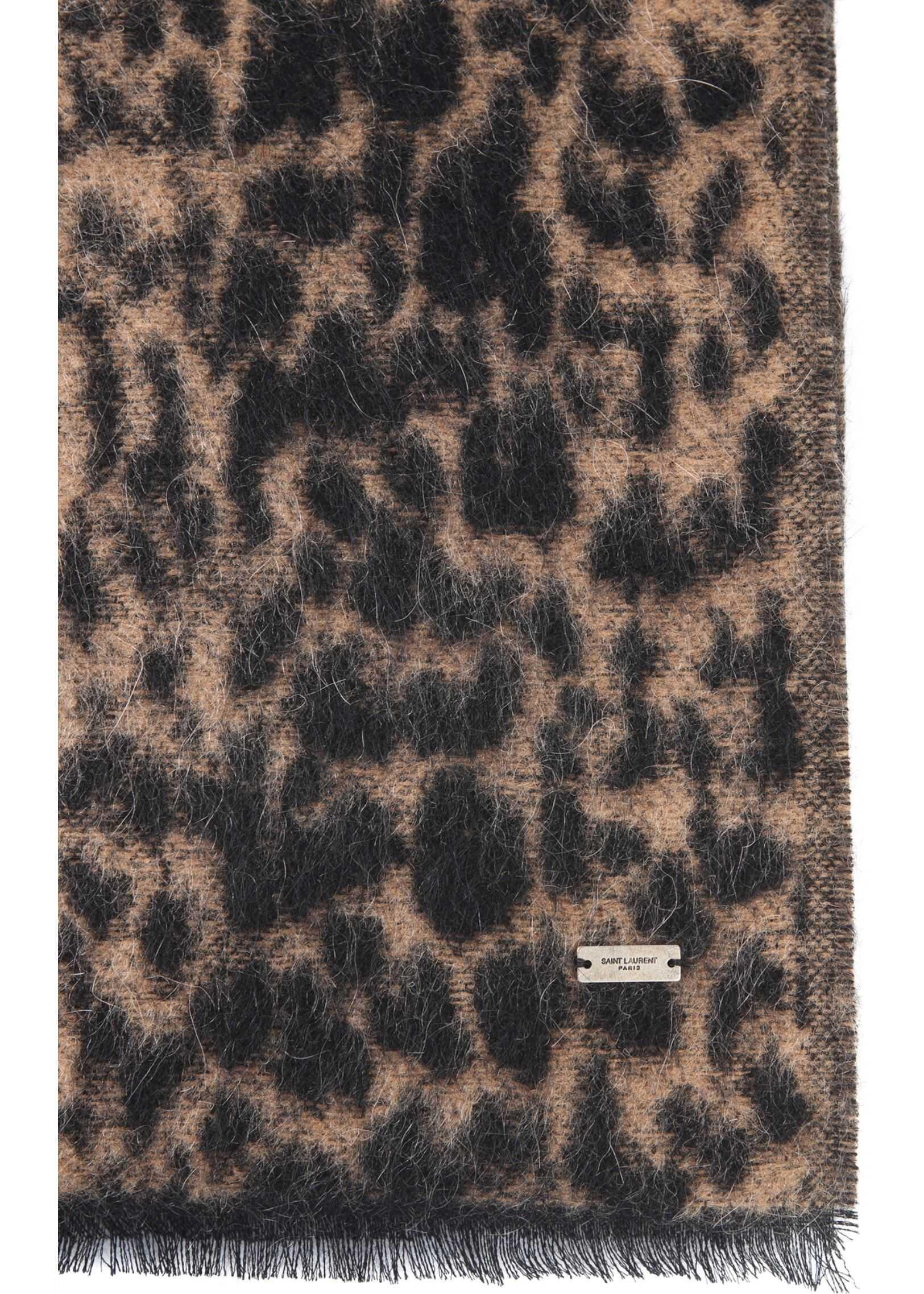 Saint Laurent Etole Leopard Scarf ANIMALIER