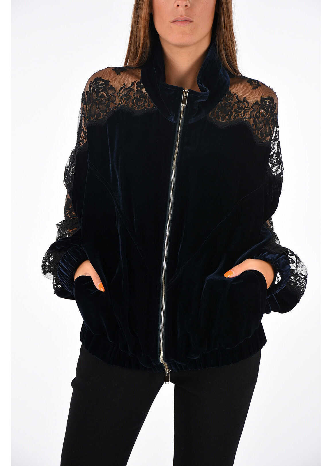 adidas by Stella McCartney Sweatshirt with Lace BLACK