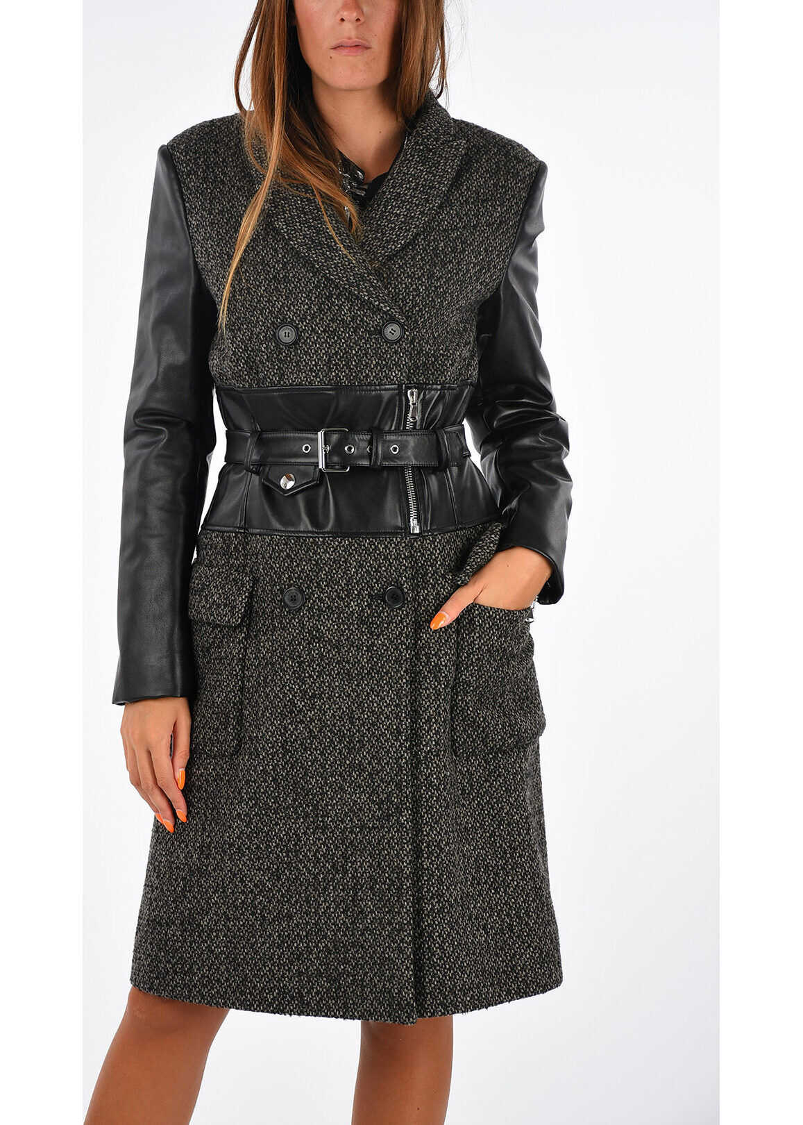 Moschino COUTURE! Double Breast Coat DARK GRAY