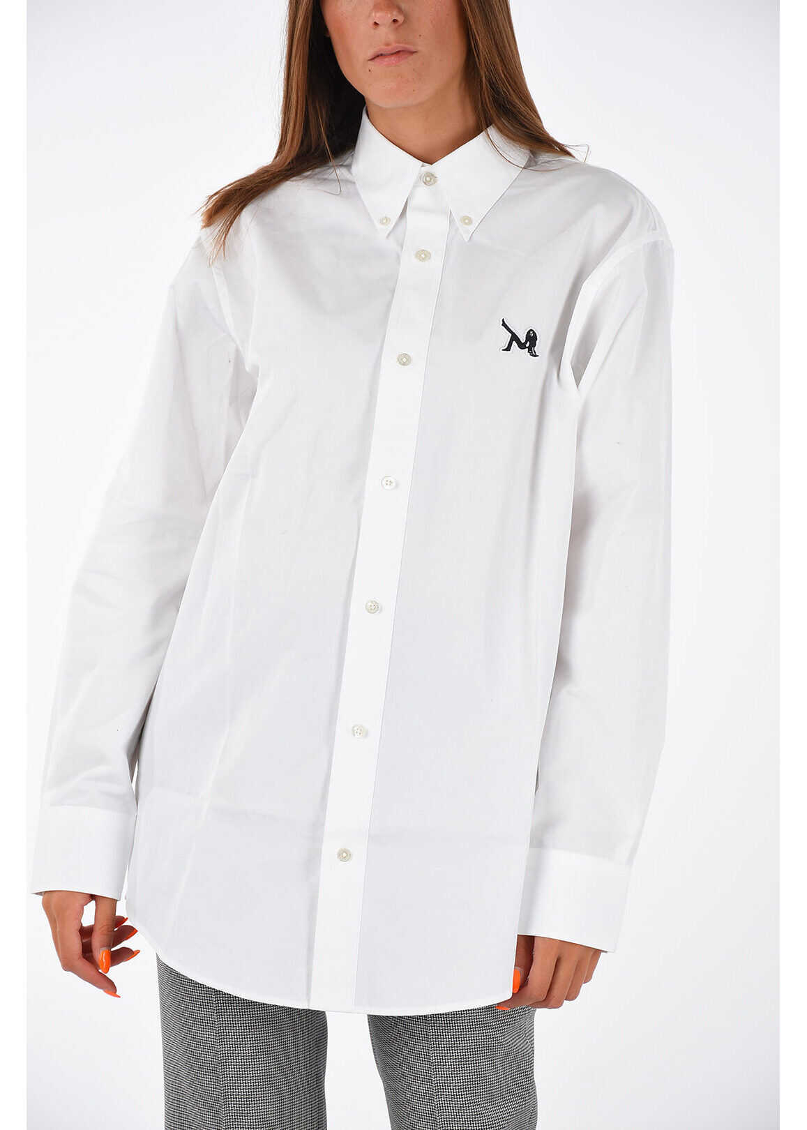 Calvin Klein JEANS EST.1978 Blouse with Embroidery WHITE