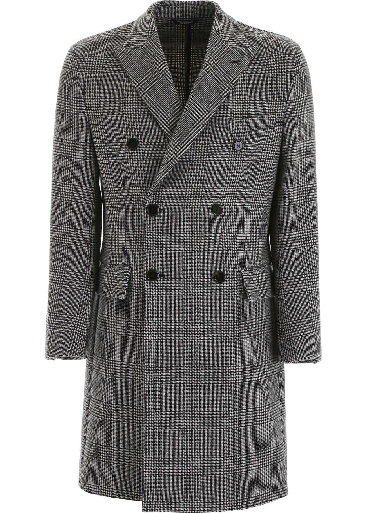 Dolce & Gabbana Prince Of Wales Coat QUADRI CHECK TARTAN