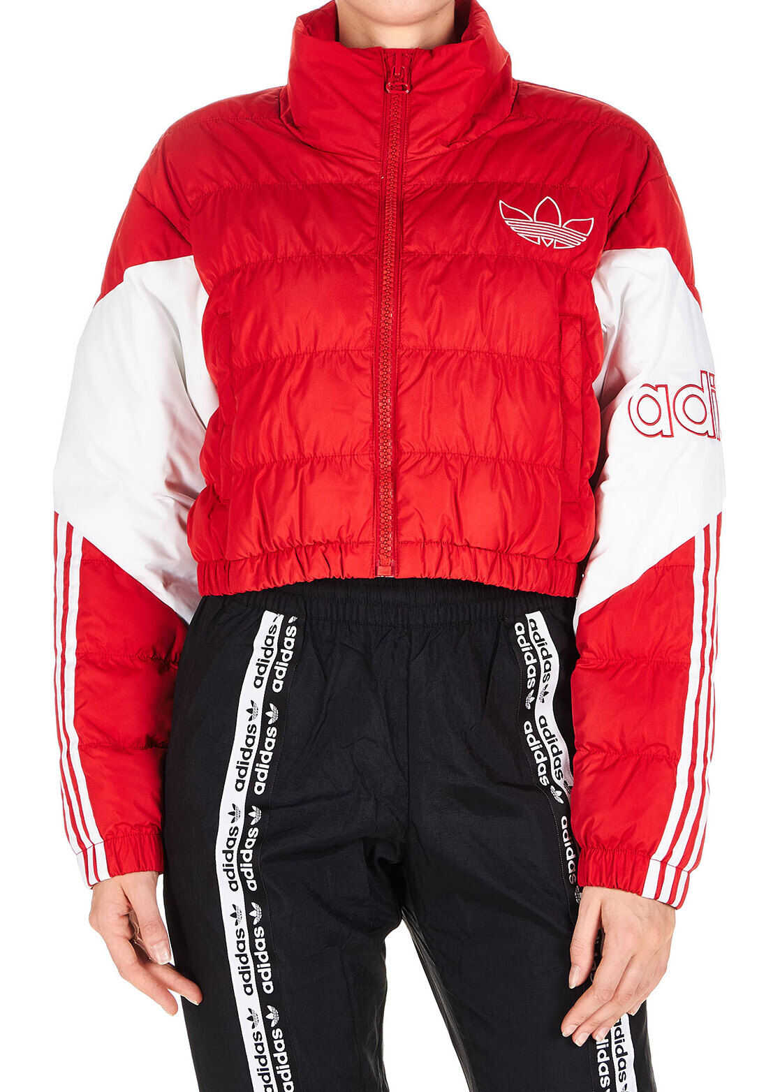 adidas Originals Cropped Puffer Jacket Red