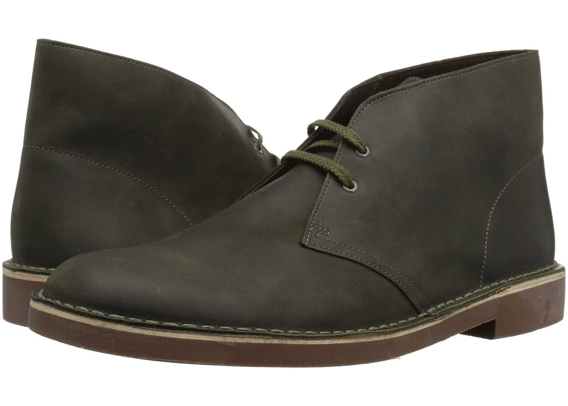 Clarks Bushacre 2 Dark Olive Leather