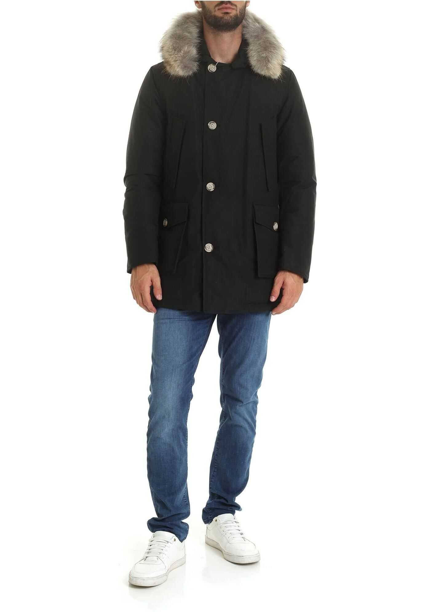 Woolrich Arctic Parka Df In Black Black imagine