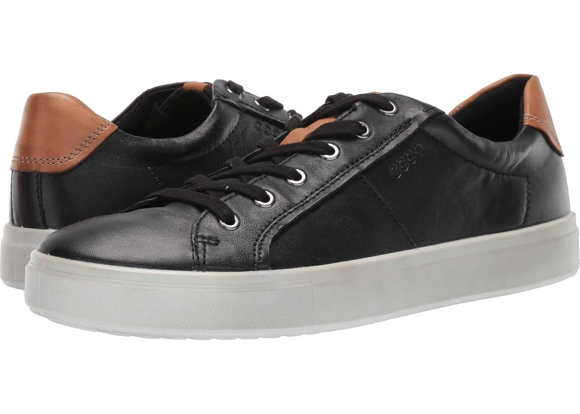 ECCO Kyle Classic Sneaker Black/Lion Cow Leather/Cow Nubuck