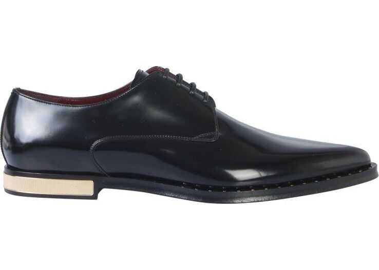 Dolce & Gabbana Leather Lace-Up Shoes BLACK